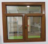 La rottura termica placcata di legno di quercia di alluminio Inclinare-Gira la finestra con i ciechi interni dell'otturatore
