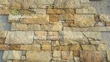 대중적인 Z 모양 외부 벽 성격 황금 노란 돌 시멘트 베니어