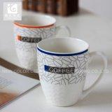 Tasse de cadeau de promotion de tasse de thé de porcelaine de la Chine de forme de tambour