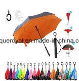 Nieuw C vormde de Omgekeerde/Omgekeerde Waterdichte Paraplu van het Handvat