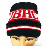 Bordados Stripe Hat Tampa de malha Beanie Hat