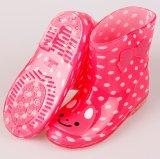 O carregador de chuva da criança da geléia dos desenhos animados calç carregadores de chuva do PVC dos miúdos