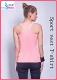 Modo Sexy Cotton Sleeveless Garment Sports Wear Vest T-Shirt per Women in Summer (SR-1112)