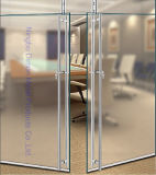 Tipo maniglia di Dimon H di portello di vetro dell'acciaio inossidabile con la serratura Dm-DHL 018