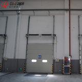 Гальванизированная дверь профиля стального промышленного секционного надземного гаража алюминиевая