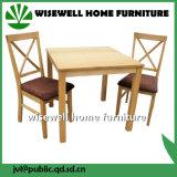 A sala de jantar em madeira de carvalho conjunto de móveis com 4 cadeira (W-DF-9051)