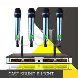 Sistema senza fili del microfono di frequenza ultraelevata del multi professionista della Manica