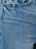 New Blue Cotton Cropped Women Leisure Jeans Denim (Pantalon ep 436)