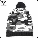 I militari di inverno degli uomini cammuffano il cappello ed il guanto del Knit del jacquard