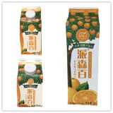 Jus d Orange Gable Top Carton avec des capuchons
