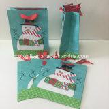 Boneco de neve Glittering o Natal personalizado vende por atacado os sacos de papel do presente