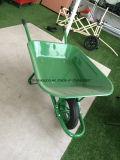 Carrinho de mão de roda Wb6400 da cor verde
