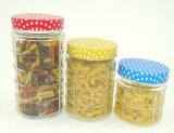 Contenitori di vetro del dolce della cucina del vaso di memoria della vite alla moda quadrata