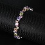 Personifiziertes Kristallarmband-Form-Farbezircon-Armband