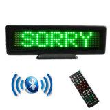 P4.75-848 Green Control de la aplicación Bluetooth Mini Coche mensaje LED SIGN Signo rodante Ventanilla firmar