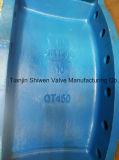 Válvula de borboleta concêntrica de flange dupla com aquarela pneumática