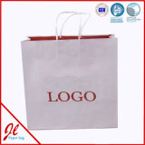 Pequeños bolsos de compras de papel lindos rosados Bolsos de compras promocionales con impresión de logotipos