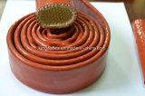 Luvas protetoras do incêndio da mangueira (luva revestida da fibra de vidro do silicone)