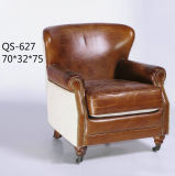 高品質によって装飾される革ソファーの椅子、クラブチェア(627)