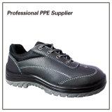 Zapatos de seguridad industrial del cuero genuino de la manera