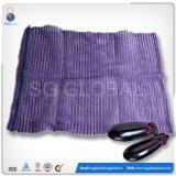 Kundenspezifische 40*60cm violette PET Raschel Beutel für Gemüse