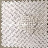 Interior Wall/Floor Decorationのための大理石のPolished Strip Mosaic Pattern