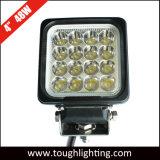 12 Voltios 4 pulgadas cuadradas de 48W LED Heavy Duty lámparas mineras