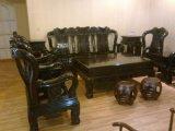 Старинная Elbony стол и стулья