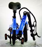 Nueva versión eléctrica de la polea de transmisión inteligente bicicleta plegable con bastidor de moldeo integrada de aleación de magnesio