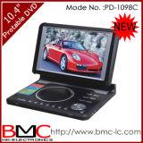 """10.4""""мультимедийный портативный DVD плеер с ТВ-тюнером,игры,USB,карты (PD-1098C)"""