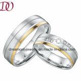 De Juwelen van het Kostuum van de Dag van de unieke Valentijnskaart van het Paar van de Ringen van het Paar van de Trouwring van de Kleur van de Alliantie Gouden Vastgestelde