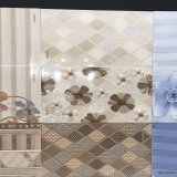 2 Drucken-keramische Wand-Fliese des Farben-Badezimmer-Wellen-Marmor-3D
