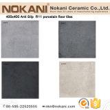 azulejo de suelo al aire libre del color oscuro 400X400 menos azulejo de la porcelana de la absorción de agua