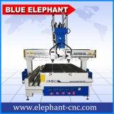 Ele 1325 маршрутизатор CNC 4 осей деревянный, машина маршрутизатора CNC шпинделя Atc Multi с роторным приспособлением