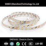 2400K-6000K Licht van de Strook van Samsung Cc24V 5630 leiden 72LEDs het Flexibele voor Restaurants