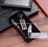 Regalo su ordinazione di lusso di promozione di marchio impostato con la penna di sfera e catena chiave e Saber