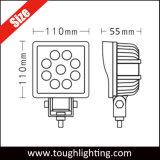 Venda quente 12V DC de 4 polegadas impermeável IP67 27W LED das luzes de trabalho