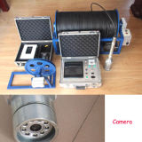 Cámara impermeable del receptor de papel del agua profunda 360 grados cámara video del examen de cacerola/del CCTV de la perforación de la inclinación con DVR
