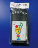 Paille artistique en plastique de couleur noire (JY1703)