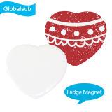 Магнит 5.5*4cm холодильника сублимации формы сердца