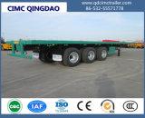 Cimc半高品質の三車軸平面のトレーラトラックシャーシ
