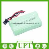 Batterie sans fil rechargeable de téléphone à la maison de la grande capacité 1500mAh de Ni-MH 1500mAh D.C.A. 2.4V pour Uniden Bt-1007