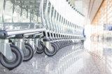 Chariot à achats de bagage de bagages de passager d'aéroport avec le frein