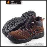 Cuero gamuza suela PU de zapatos de seguridad SN5116