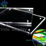 10mm bloco sólido anuncie assinar titular5 Visor grossista da estrutura em acrílico Magnético