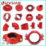 FM/UL Certifications accessoires de plomberie rainuré pour système sprinkleur incendie