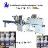 L'alcool imbottiglia la macchina automatica di imballaggio con involucro termocontrattile