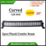 20pouces LED 120W Offroad incurvée des feux de conduite barre lumineuse à LED Spot Flood Combo IP68 de faisceau