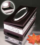 Wood Tissue Box (BW15828DON-1H)の銀製のPlated