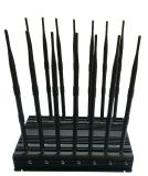 Jammer del poder más elevado para 2g + 3G + 2.4gwifi + Remote Control + Gpsl1 + Lojack; Ajustable 14 Antenas Jammer inalámbrico con cargador de coche